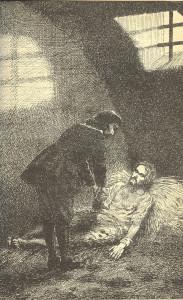 5 Ilustrace M. Ulického z knihy Skály od A. Jiráska - v čáslavské šatlavě