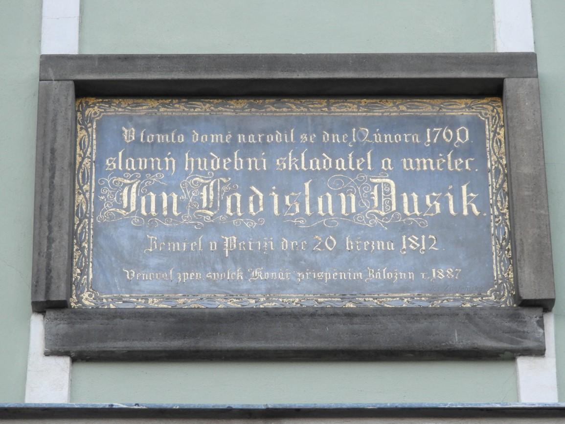 40 Rodný dům J. L. Dusíka číslo popisné 171